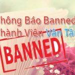 Thông báo: Ban Vĩnh viễn nick thành viên Vân Tâm.