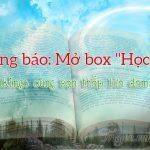 """Thông báo: Mở box """"Học Văn"""""""