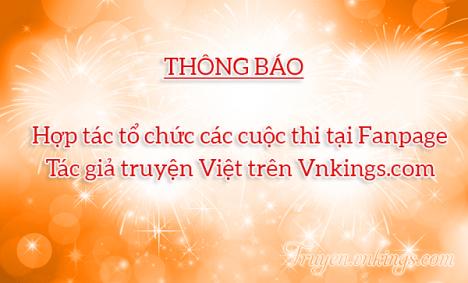 Thông báo: Hợp tác tổ chức các cuộc thi tại Fanpage Tác giả truyện Việt trên Vnkings.com