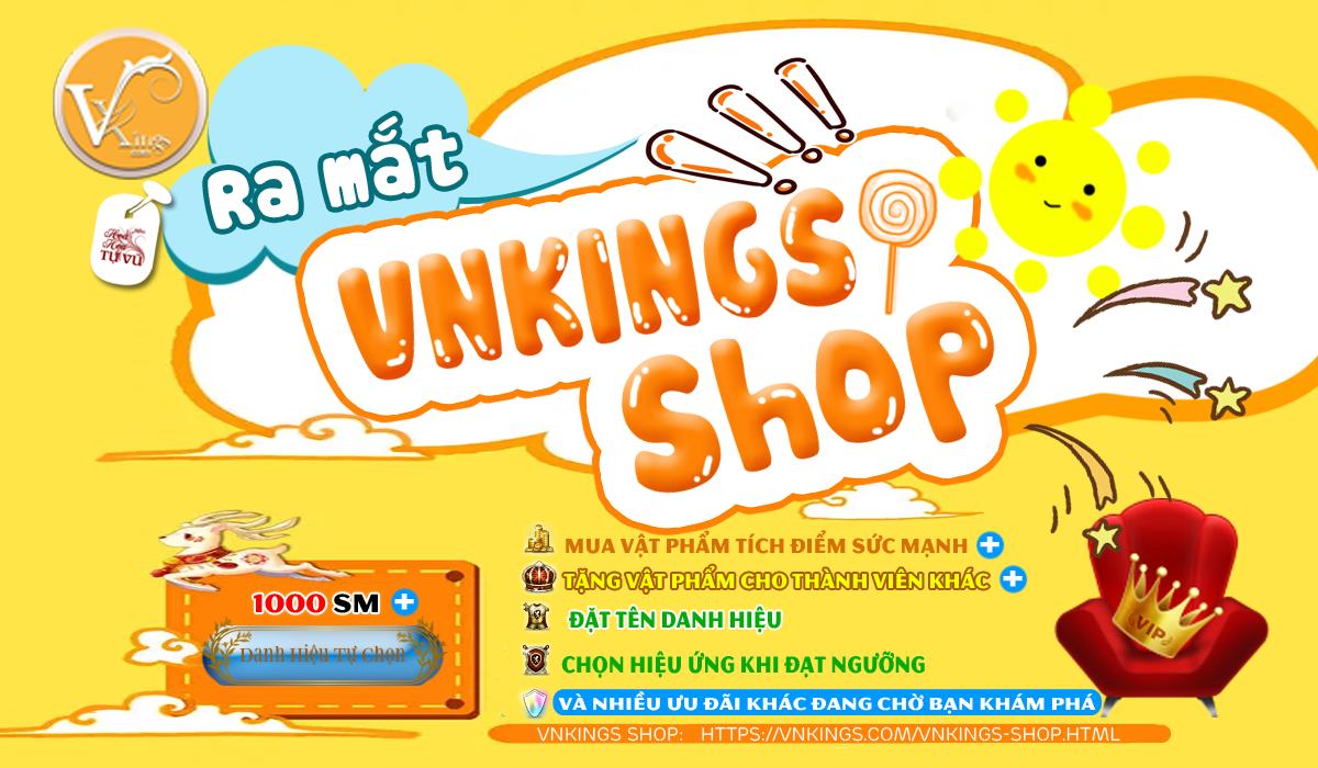 Thông báo: Ra mắt sự kiện shop vật phẩm Vnkings.