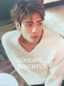 Goodbye, JongHyun. (Tạm biệt nhé, JongHyun)