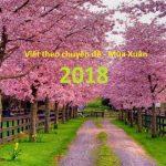 Viết theo chuyên đề – Mùa Xuân 2018
