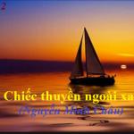 """Giá trị nhân đạo trong tác phẩm """"Chiếc thuyền ngoài xa"""" của nhà văn Nguyễn Minh Châu"""