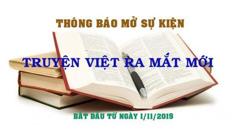 Mở Sự Kiện Truyện Việt Ra Mắt Mới