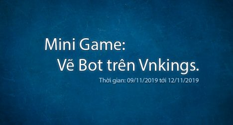 Mini Game: Vẽ Bot trên Vnkings.