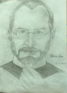 Ký họa chân dung Steven Jobs