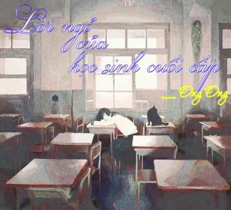 Lời ngỏ của học sinh cuối cấp
