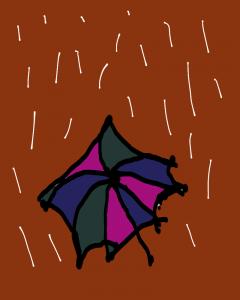 Dạo bước dưới mưa