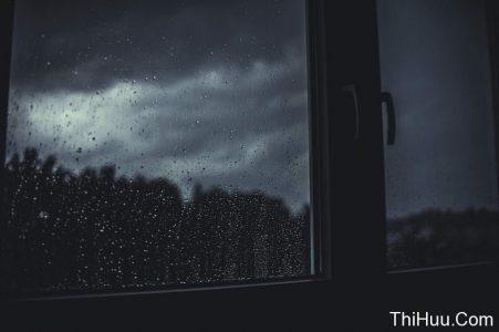 Mưa rơi ngoài khung cửa